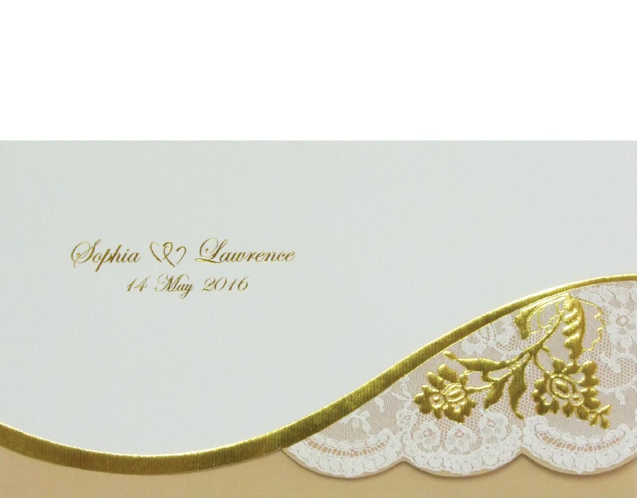 การ์ดแต่งงาน wedding card 10.5 x 18.5 cm WC 5621 Cream ฿ 8.50