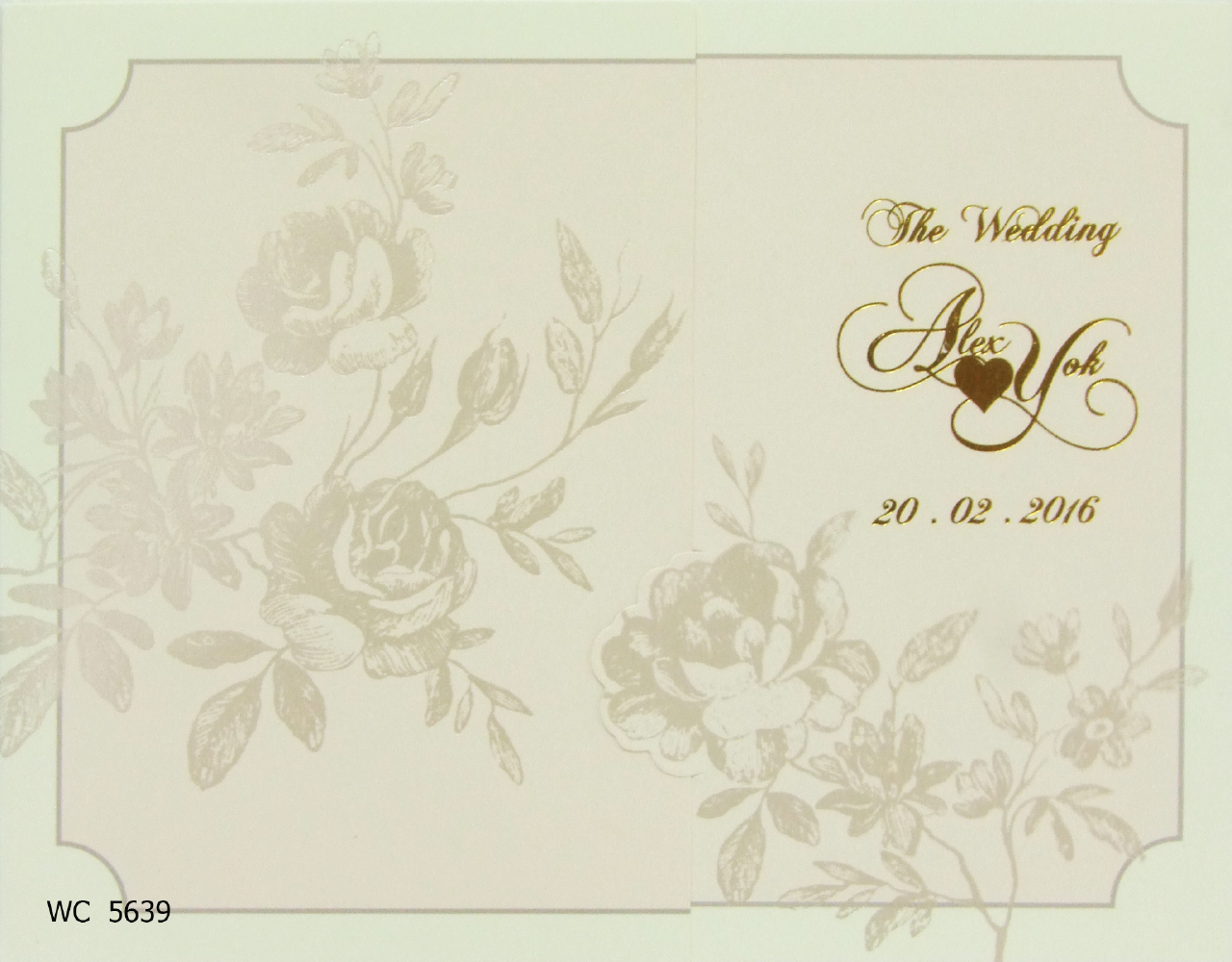 การ์ดแต่งงาน 13 x 16.5 WC 5639 Cream ฿ 8.20