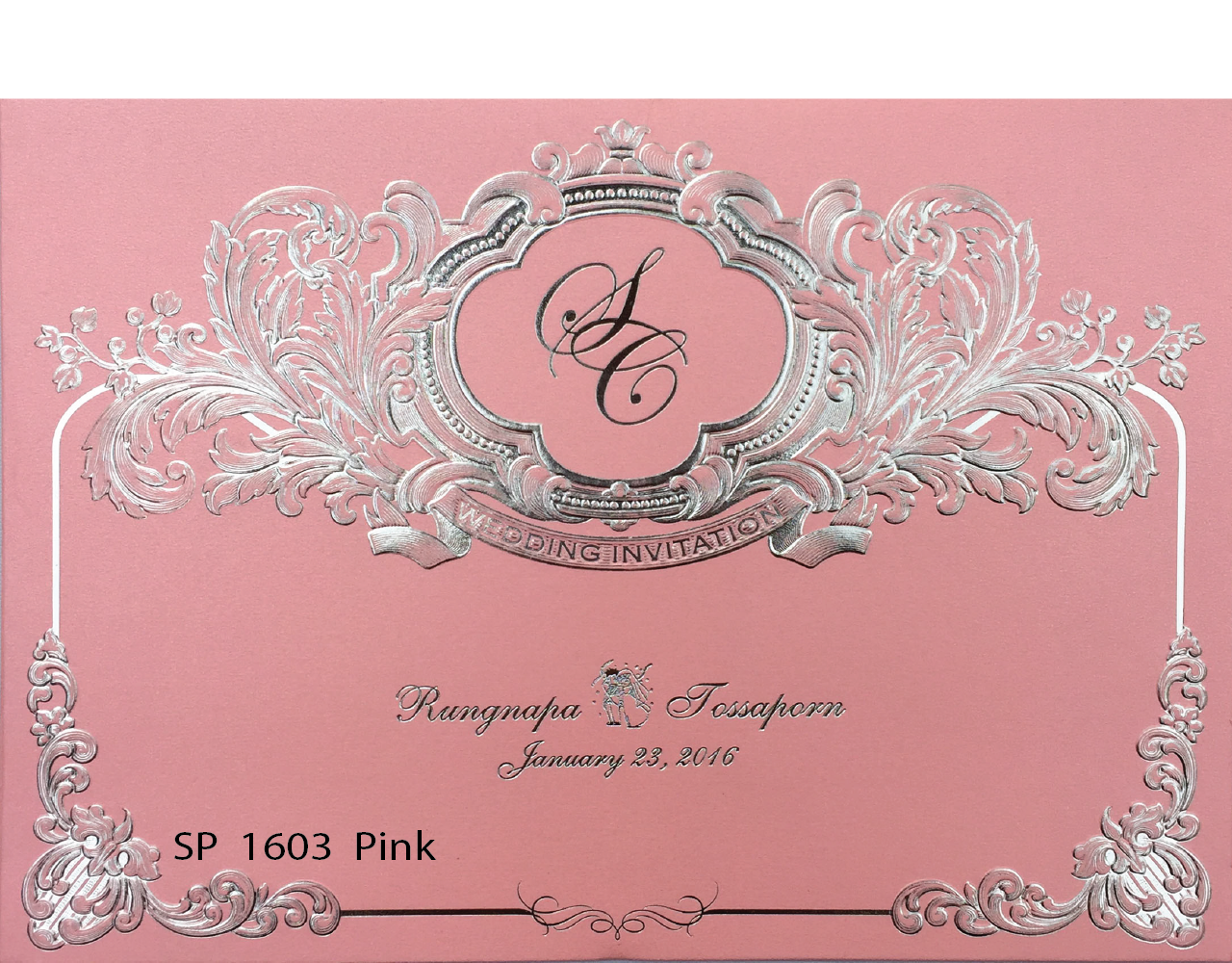 การ์ดแต่งงาน 15.3×21.3 SP 1603 Pink ฿ 17.00