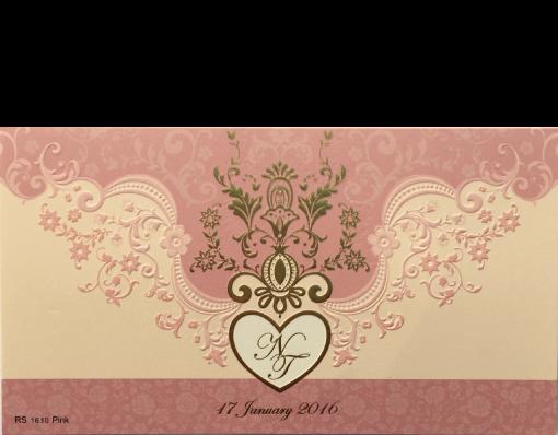 การ์ดแต่งงาน wedding card 4×7.5 inch RS 1610