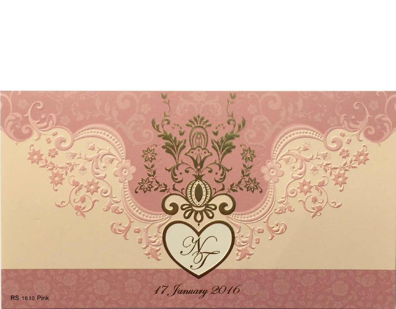 wedding card 4×7.5 inch RS 1610