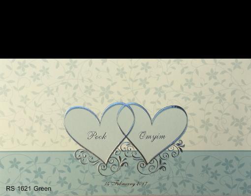 การ์ดแต่งงาน wedding card 4×7.5 inch RS.1621