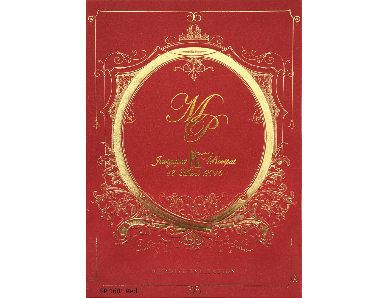 wedding card 6×8.5 inch sp 1601 red