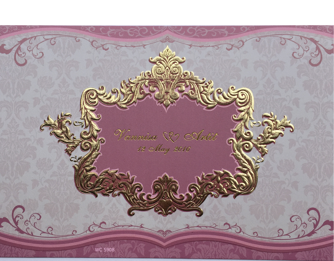 wedding card 7×5 inch WC 5908