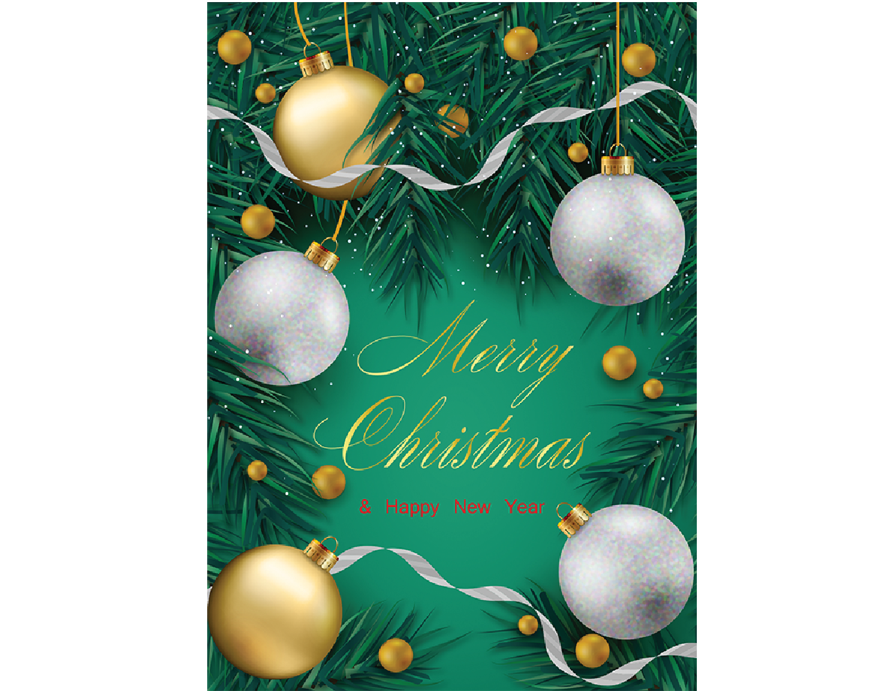christmas card 5×7 inch GN.6008 ฿14.00