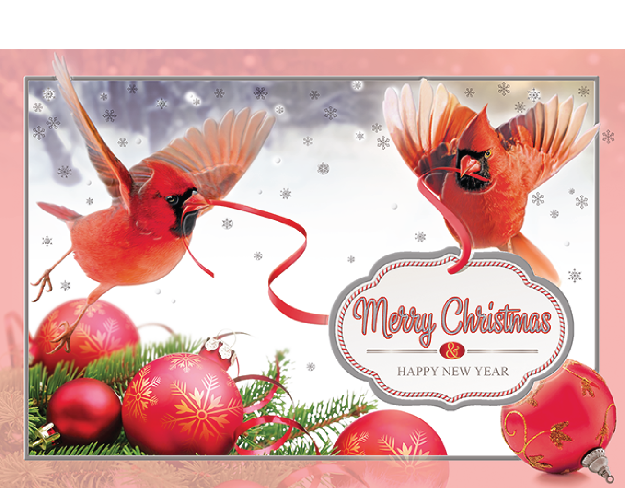 christmas card 5×7 inch GN.6009 ฿14.00
