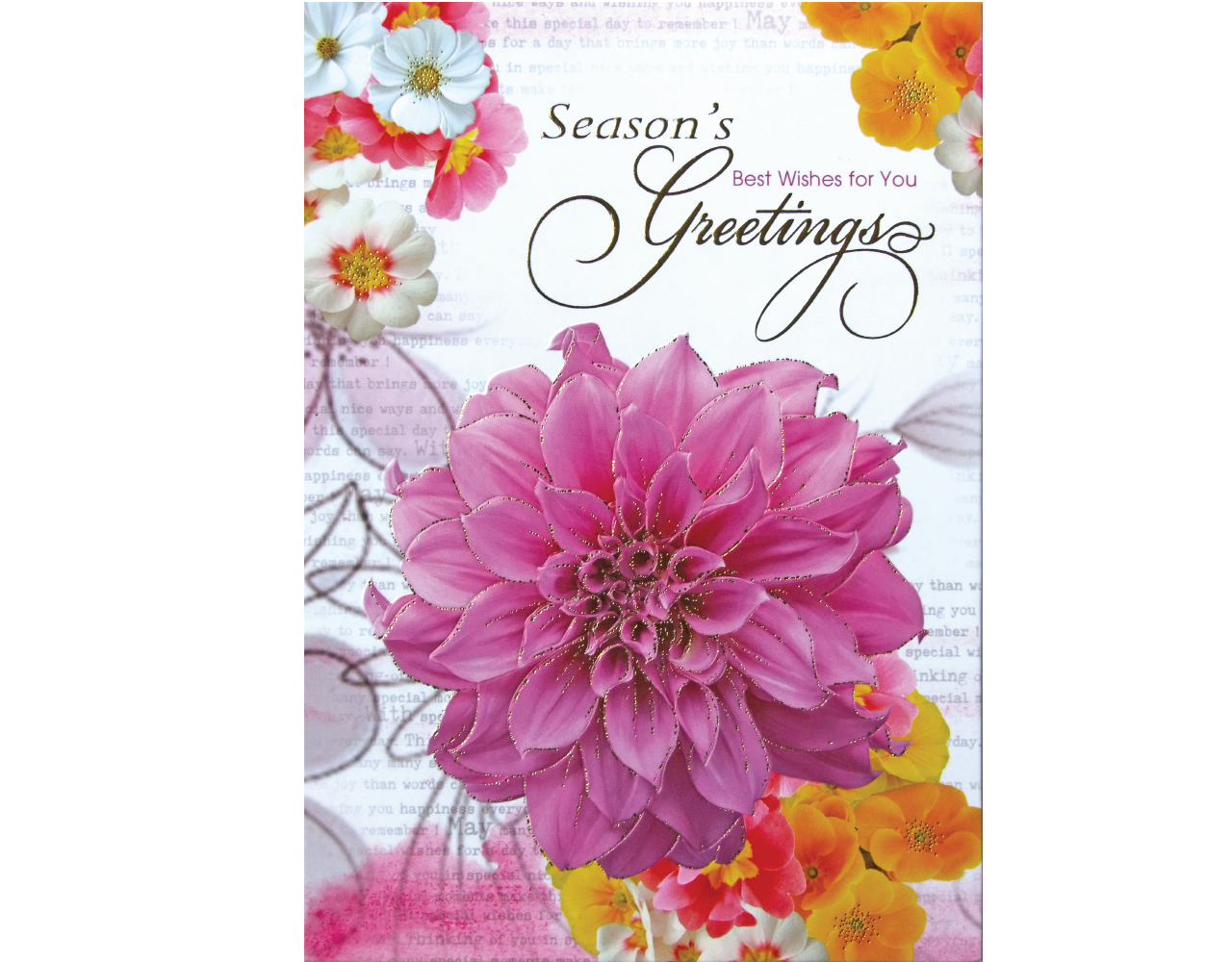 new year card 5×7 inch GN.5808 ฿14.00