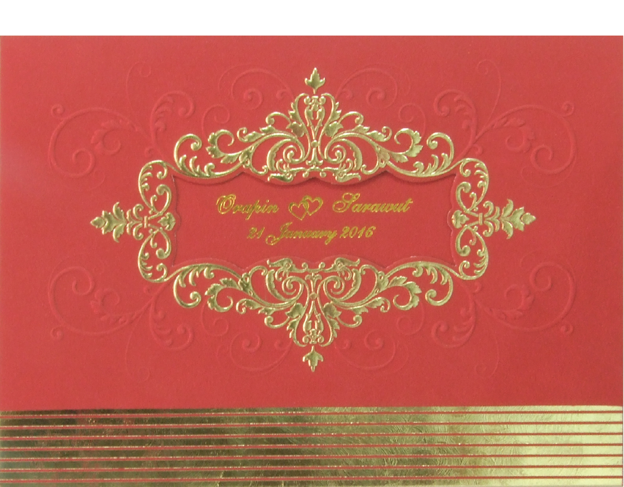 Wedding Card WC5851 [Red] - WEDDING INVITATIONS CARDS | By Gracegreeting