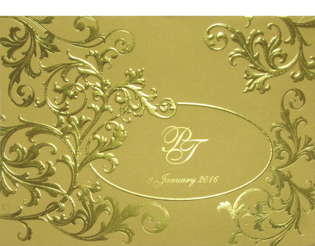 การ์ดแต่งงาน 15.3 x 21.3 cm SP 5801 Gold