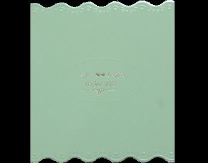 Wedding Card 14.5 x 13.5 cm WC 3877 Green ฿ 5.00