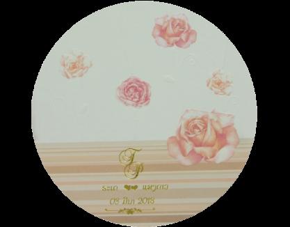 Wedding Card 14.5 x 14.5 cm WC 4808 Cream ฿ 4.30