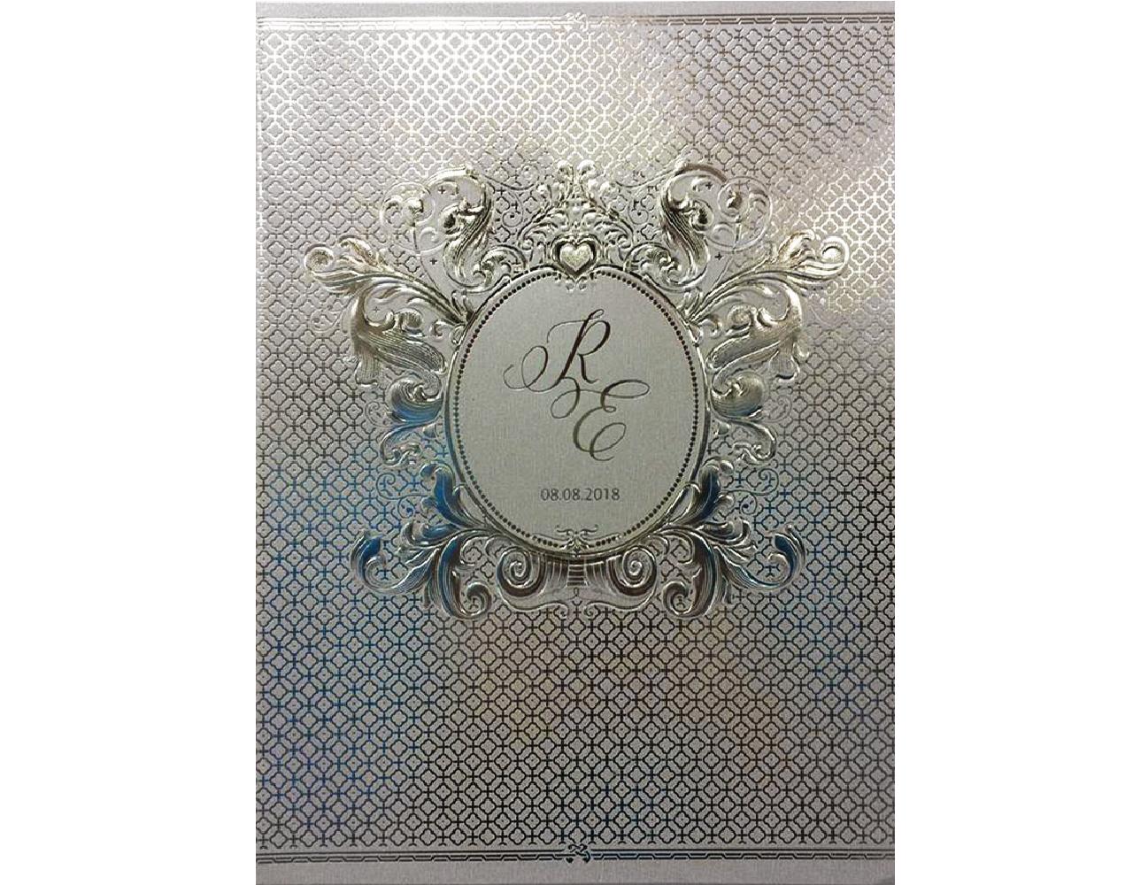 Wedding card 21.3 x 15.3 cm SP 1703 Silver