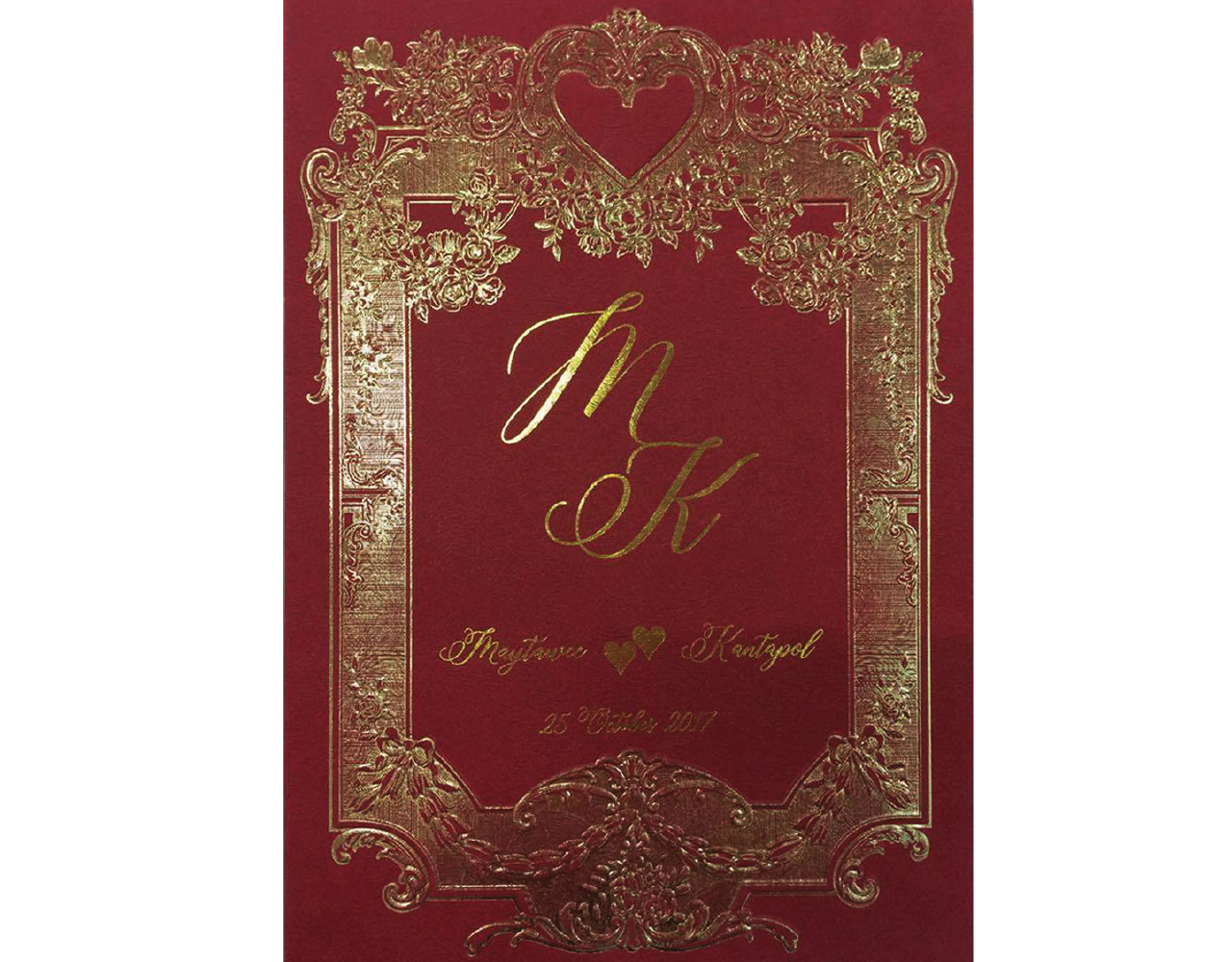 Wedding Card SP1707 [Red] - WEDDING INVITATIONS CARDS | By Gracegreeting
