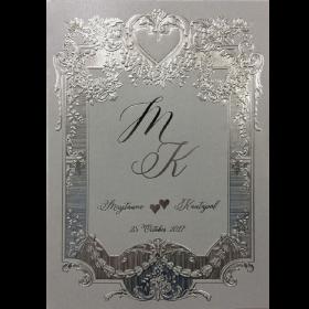 การ์ดแต่งงาน SP 1707 สีเงินมุก
