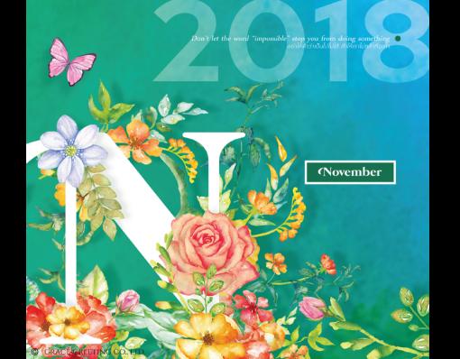 ปฏิทินตั้งโต๊ะ CT.6107 Stunning Florals November