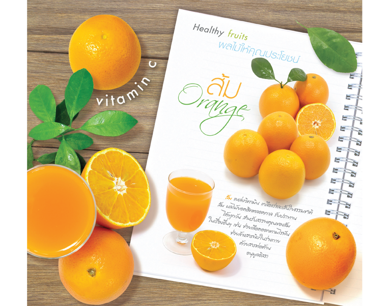 ปฎิทินตั้งโต๊ะ CT 6106 Healthy Fruit July