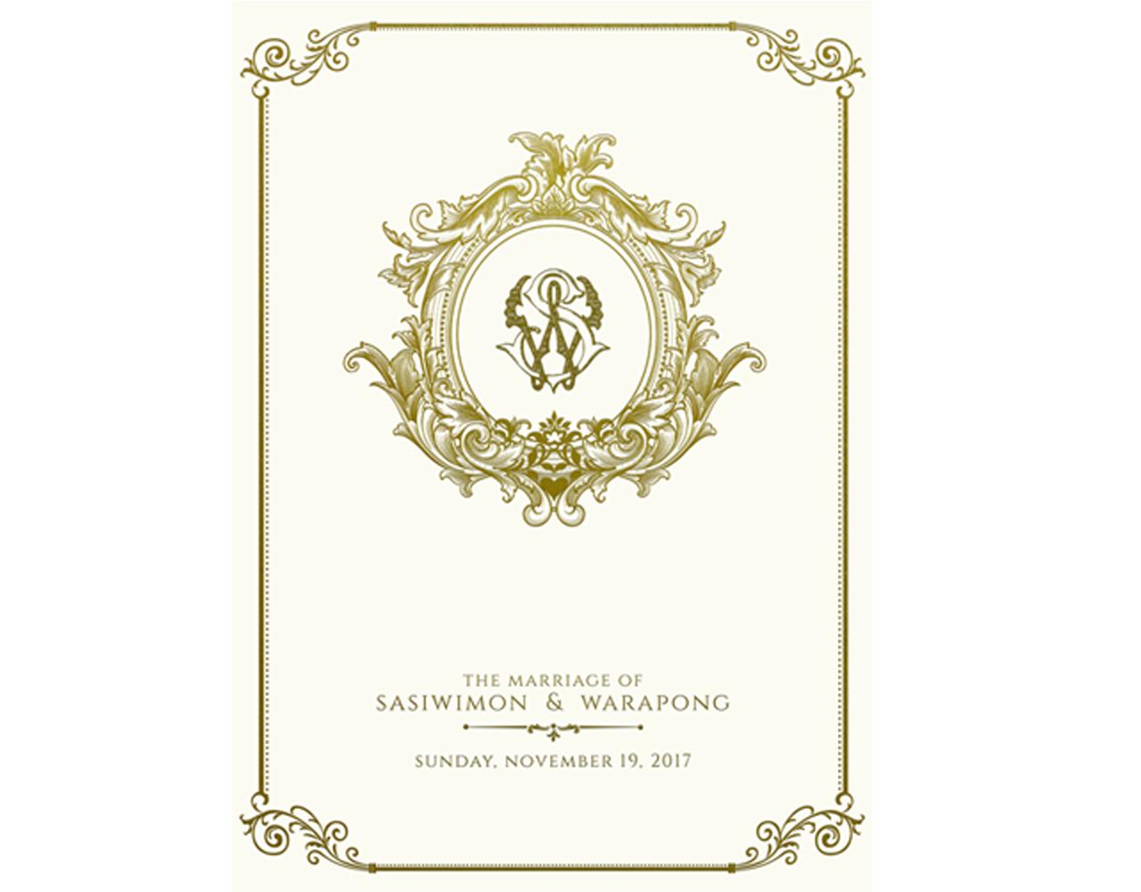 การ์ดแต่งงาน, การ์ดแต่งงานสั่งผลิต M010 ,ออกแบบการ์ดแต่งงาน
