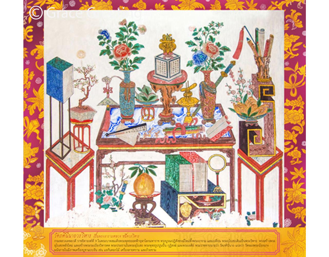 ปฏิทินตั้งโต๊ะ ปี 2562 CT.6201 Thai Painting Art Jul